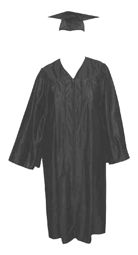 High School Gown - BLACK