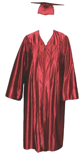 High School Gown - MAROON