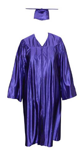 High School Gown - PURPLE