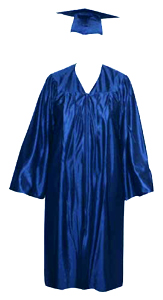 High School Gown - ROYAL BLUE