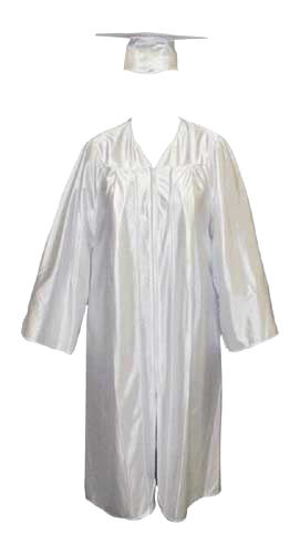 High School Gown - WHITE