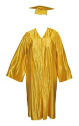 High School Gown - YELLOW GOLD
