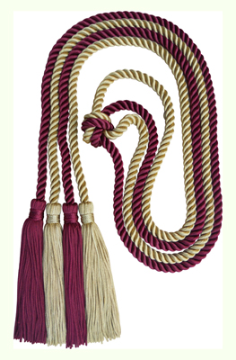 Honor Cord - LIGHT GOLD AND BURGANDY COLOR