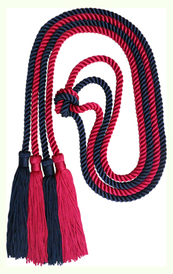 Honor Cord - DARK RED AND BLACK COLOR
