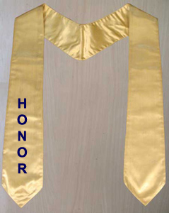 Graduation Stole in SATIN
